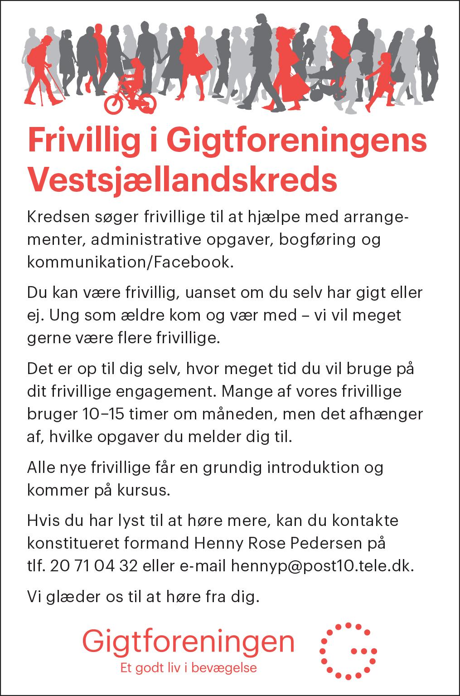 Frivillig søges Vestsjælland gigtforeningen dec